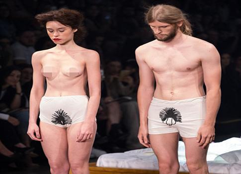 87094ff00b252 بالفيديو  عرض أزياء غريب جداً في البرازيل - Lebanon News