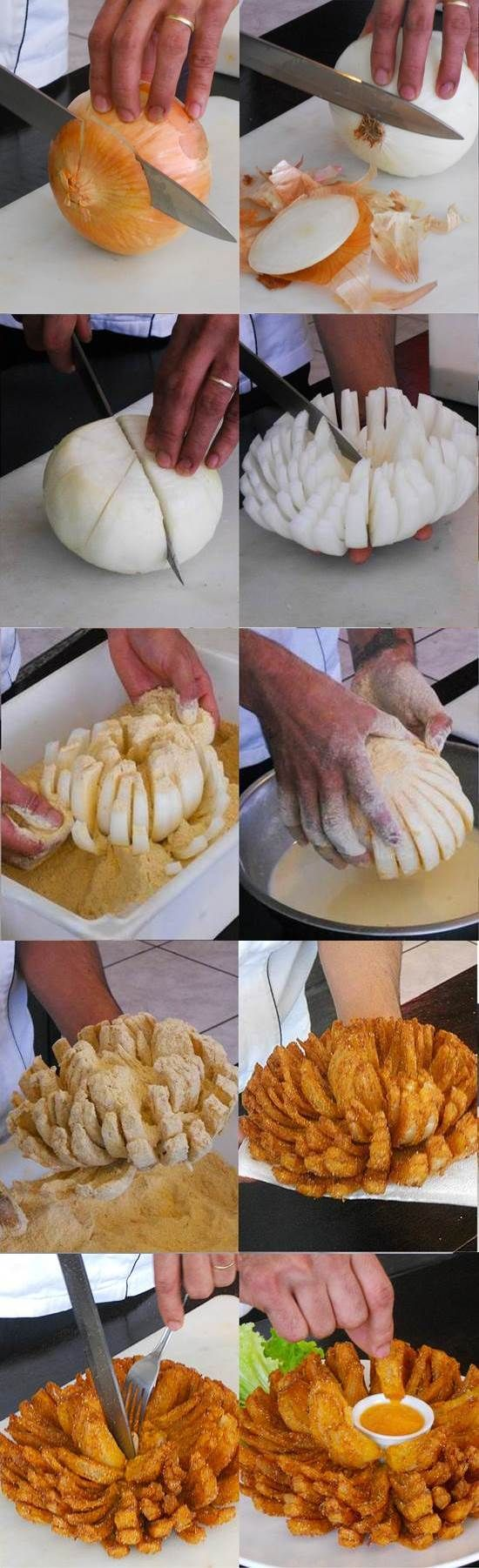 how to cut a blooming onion video