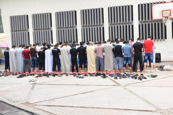 Prayers and sermons Eid al-Adha in the prison of Roumieh