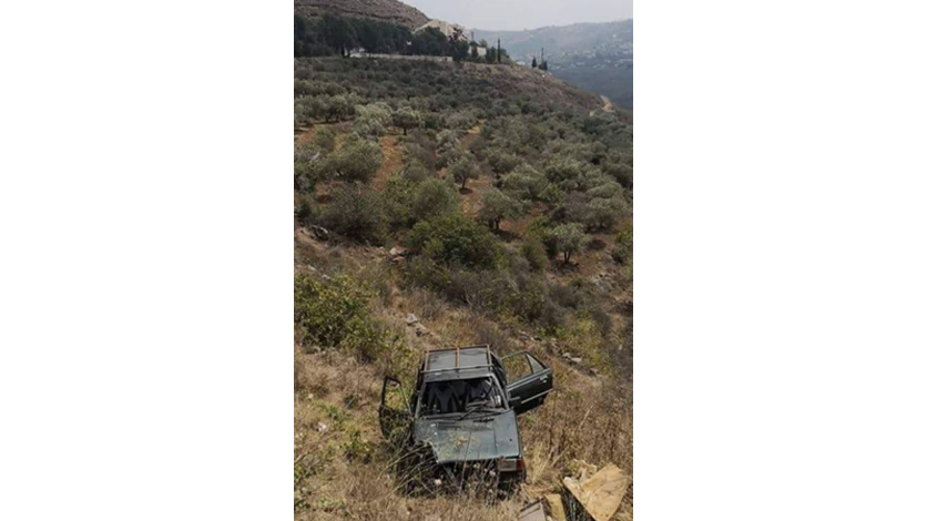 A car departed from its course on the road between the cities of Sheikh Mohammed and Mashha in Akkar