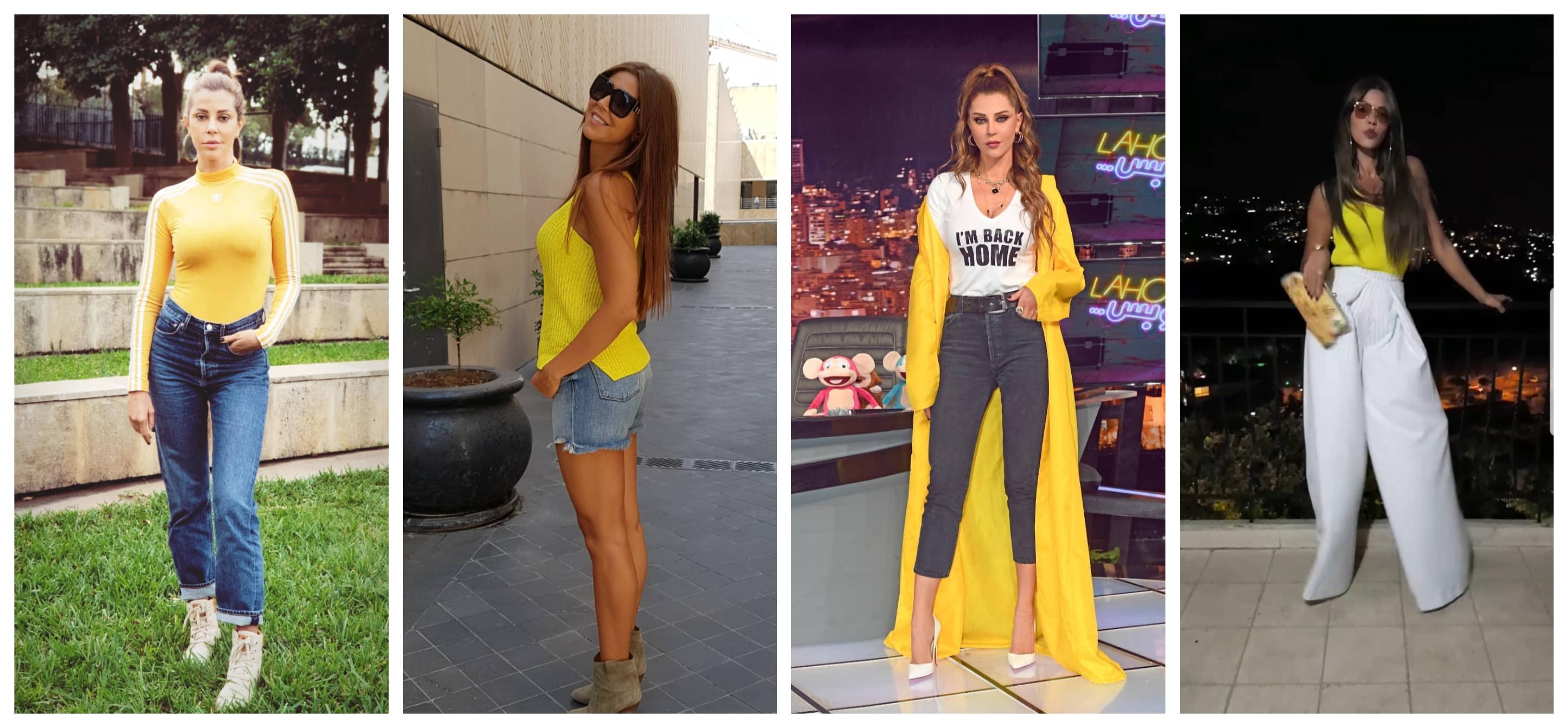 b42268886972d اعتمدي اللون الأصفر على طريقة كارلا حداد (صور) - Lebanon News