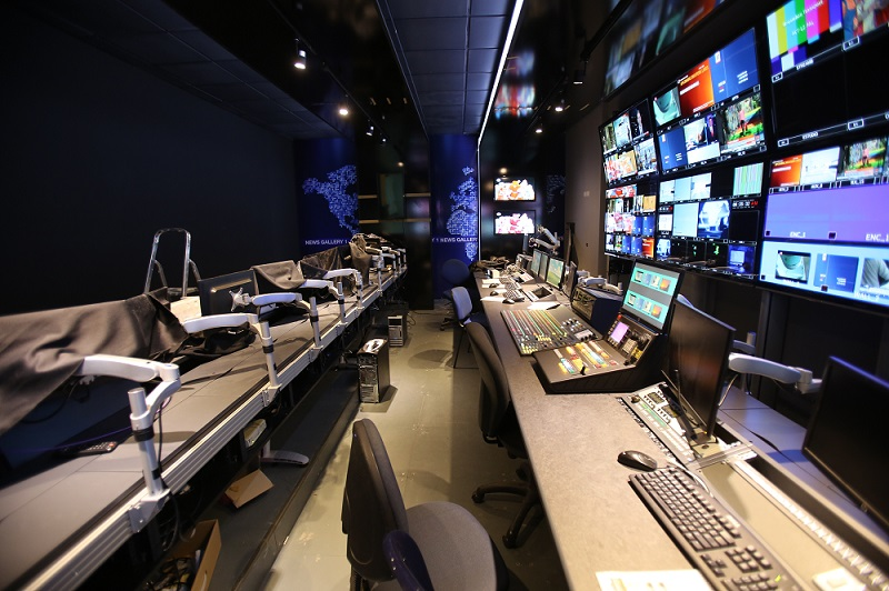 LBCI's news gallery or control room: It is the place where the daily composition of the news takes place. In the event that something urgent occurs, producers, directors and video editors shall work closely together in the said room to broadcast the breaking news live on TV, whether it was local news (Beirut, Lebanon,) regional news or worldwide news.