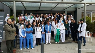 REPORT: Employees close al-Youssef Hospital's main entrance to protest arrest of colleagues