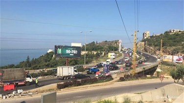 [PHOTOS] Maintenance works cause suffocating traffic jam in Jounieh