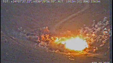 [VIDEO] Lebanese Air force launches airstrike on a terrorist headquarter in Arsal