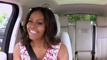 [VIDEO] First Lady, James Corden Hit The Road For Carpool Karaoke