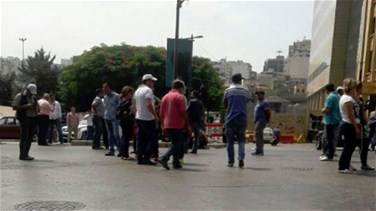 EDL day workers protest in Riad Solh Square