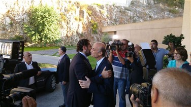 REPORT: Geagea meets with Hariri in Maarab