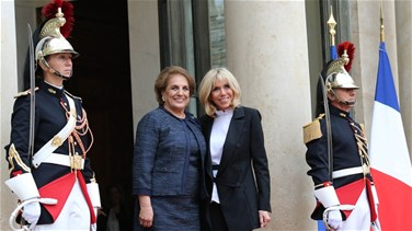 Lebanon News - Lebanon's First Lady and French counterpart hold talks at Élysée Palace