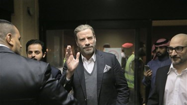 Lebanon News - Actor John Travolta arrives in Saudi Arabia