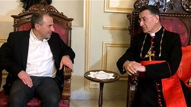 Lebanon News - Patriarch Rai meets Minister Bassil in Bkerke