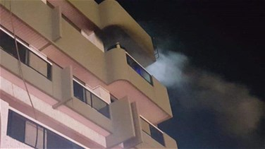 Lebanon News - Fire erupts inside an apartment in Adma
