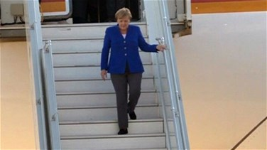 Lebanon News - Germany's Merkel arrives in Beirut