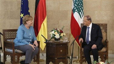 Lebanon News - Merkel wraps up official visit by meeting Aoun