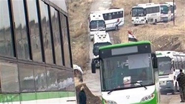 Lebanon News - Buses arrive to evacuate two besieged pro-Assad Syrian villages