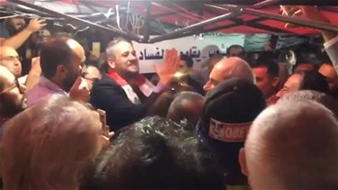 Lebanon News - Melhem Khalaf visits lawyers' tent in Martyrs Square (Video)