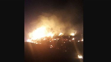 Lebanon News - Attempts ongoing to put out fire in a pine and oak forest in Beino, Akkar (Photo)