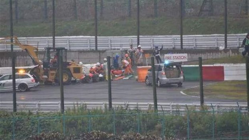 Bianchi unconscious after accident at Japanese GP - Lebanon News