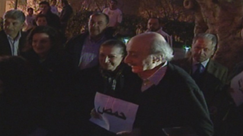 In boldest step yet, Jumblatt joins anti-Assad rally