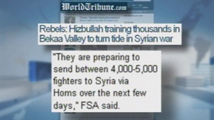 Rebels: Hezbollah training thousands in Bekaa Valley to turn tide in Syrian war