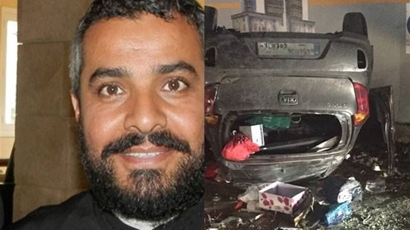 Father Majdi Allawi Survives Horrific Car Accident On Dbayeh Highway