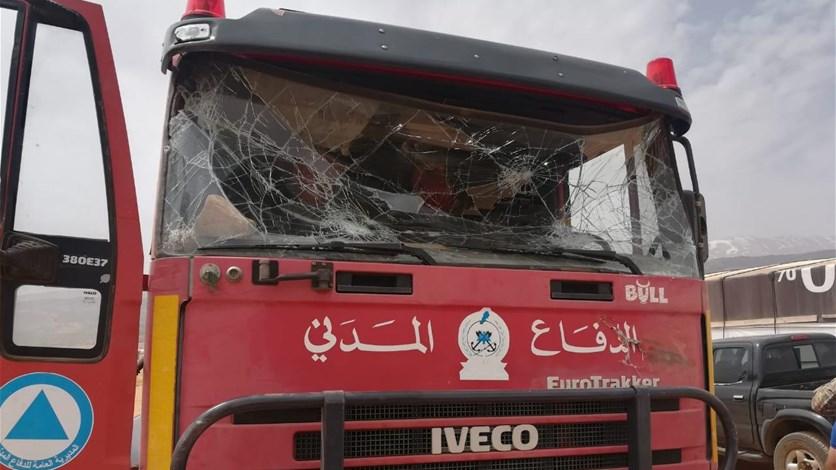 القبض على جميع المعتدين على آلية الدفاع المدني في دير الأحمر