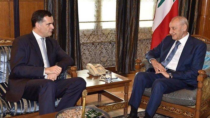 Speaker Berri meets with French envoy in Ain al-Tineh