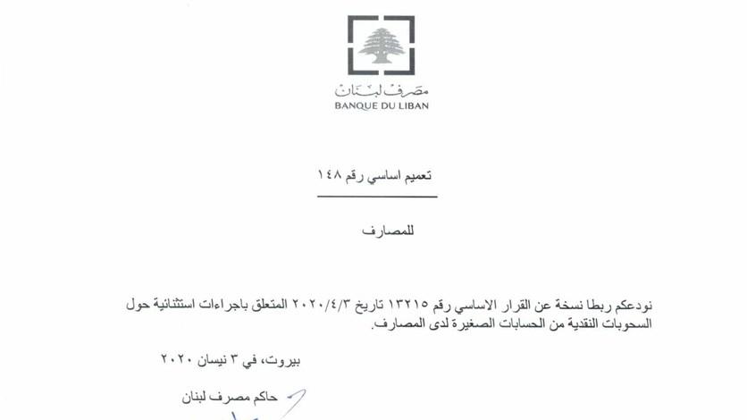 هل سيُطبّق تعميم مصرف لبنان رقم 148 مرّة جديدة اعتباراً من حزيران؟