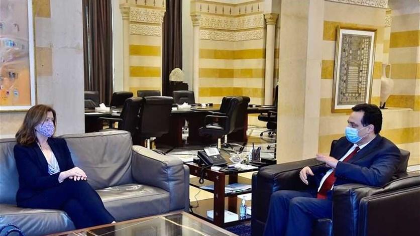 اجتماع بين دياب وشيا في السراي الحكومي... واستبقاء السفيرة الى ...