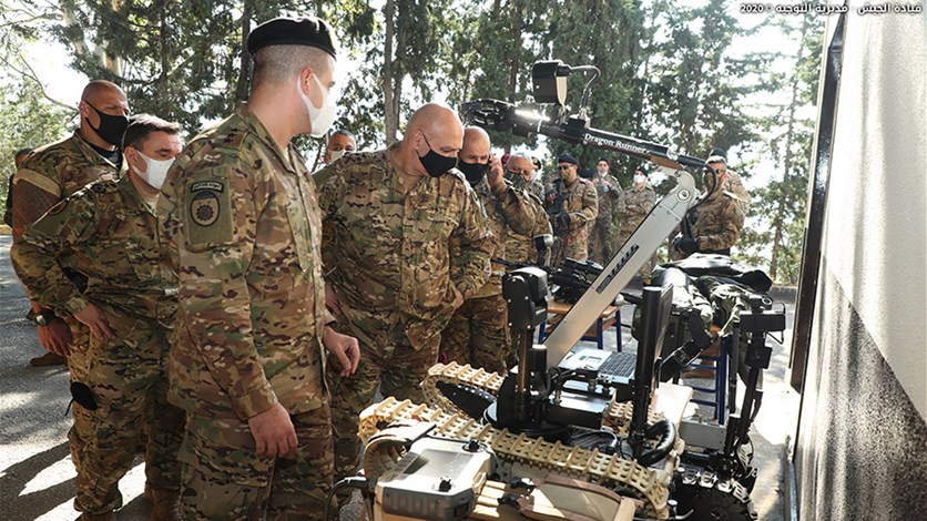 قائد الجيش زار فوجَي الهندسة والأشغال المستقل: نمرّ بمرحلةٍ صعبة تتطلب الجهوزية العالية