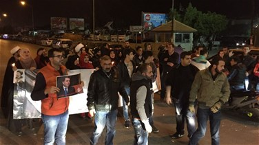 Supporters of ex-MP Yaacoub block airport road