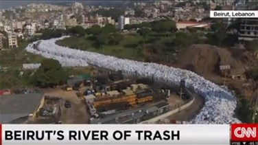 [VIDEO] Lebanon's piles of garbage appear on CNN