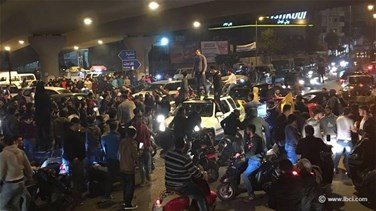 REPORT: Hezbollah supporters block roads to protest Nasrallah...