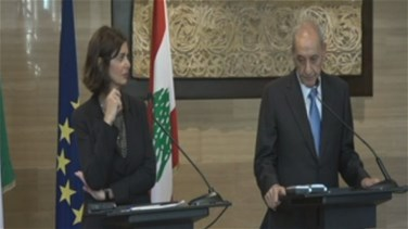 Berri meets with Italian Speaker