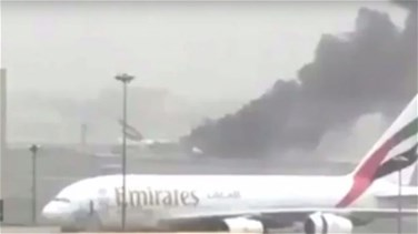 REPORT: Emirates jet catches fire after hard landing in Dubai,...