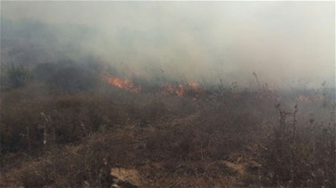 Huge fire erupts in outskirts of al-Bouwayda in Marjeyoun