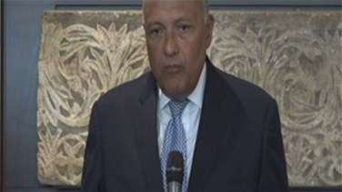 REPORT: Egypt foreign minister meets with Lebanese officials