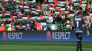 REPORT: Scottish football fans raise Palestinian flags in match...
