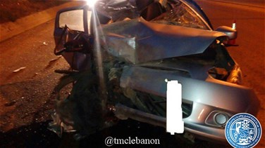 [PHOTOS] Car accident kills one person on Tabarja highway