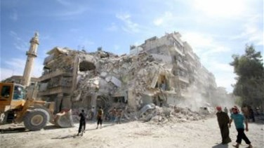 Syrian army says rebel bombardment of Aleppo killed 84 in three...