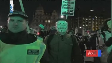 REPORT: UK police arrest nearly 50 at Anonymous protest in London