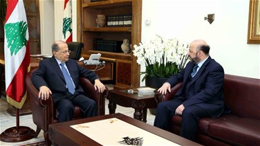 Aoun meets Riachi, discusses media related issues