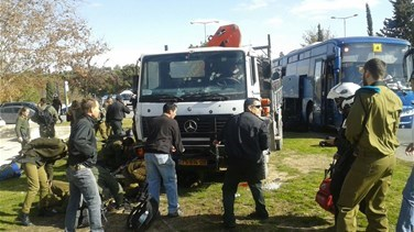 [VIDEO+PHOTOS] At least four dead in Palestinian truck-ramming...