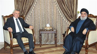 Hezbollah leader Nasrallah meets with Marada chief Frangieh