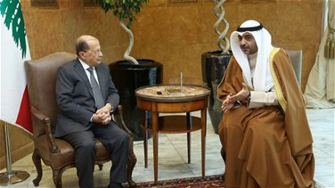 President Aoun receives Kuwaiti state minister for cabinet...