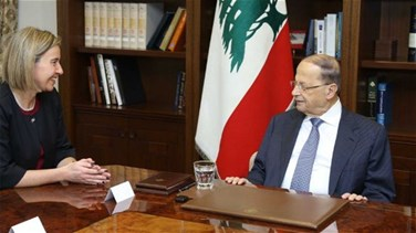 REPORT: Aoun to Mogherini: Parliamentary elections to take place...
