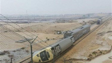 Floods cause train crash near eastern Saudi city, injuring 18