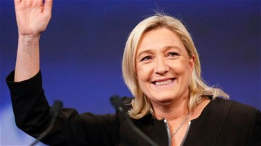French presidential candidate Marine Le Pen arrives in Beirut