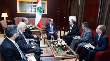[PHOTOS] President Aoun meets with Russian deputy FM in Saudi...