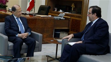 Aoun meets Foucher, Le Drian to visit Lebanon after elections